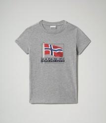 Детска тениска K SEJI SS - MEDIUM GREY MELANGE