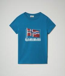 Детска тениска K SEJI SS - MYKONOS BLUE