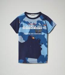 Детска тениска K SOBBI SS - BLUE CAMO