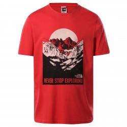 Мъжка тениска M S/S NW TEE ROCOCCO RED