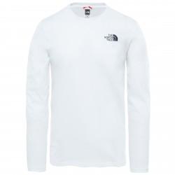Мъжка тениска с дълъг ръкав M L/S EASY TEE TNF WHITE
