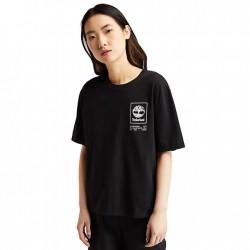 Дамска тениска Organic Cotton Utility T-shirt for Women in Black