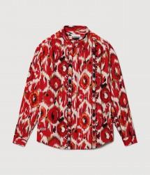 Дамска риза GAEN RED AOP