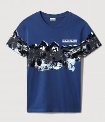 Мъжка тениска SAREY BLUE AOP