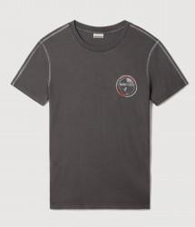 Мъжка тениска SEBILBA SS DARK GREY SOLID