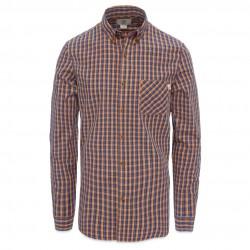 Мъжка риза LS POPLIN SMALL PLAI SUDAN BROWN