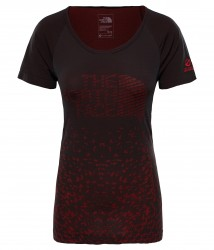 Дамска тениска W FLIGHT SEAMLESS SS BLACK/JUICY RED