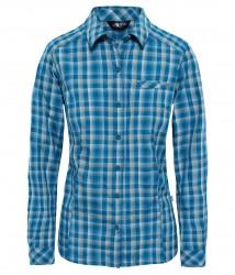 Дамска риза W L/S ZION SHIRT BLUE CORAL PLAI
